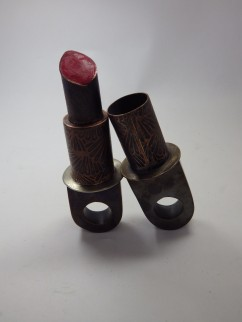 Hollow Constructed Rings. Copper, etching, lipstick. Spring 2013.